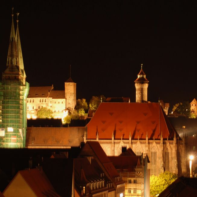 Nueremberg city by night
