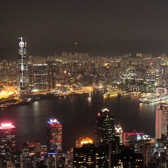 HongKong City by night